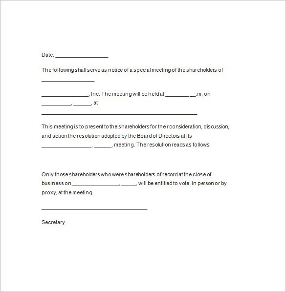 How To Write An Invitation Letter For Annual General ...