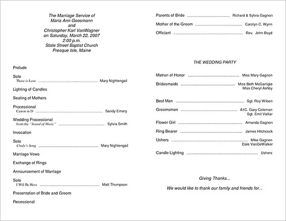 wedding invitation programme wedding invitation