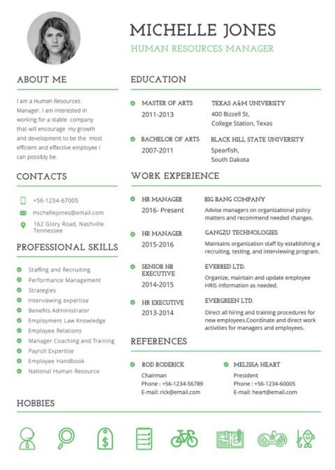 Professional HR Illustrator Fill In Blank Resume Templates