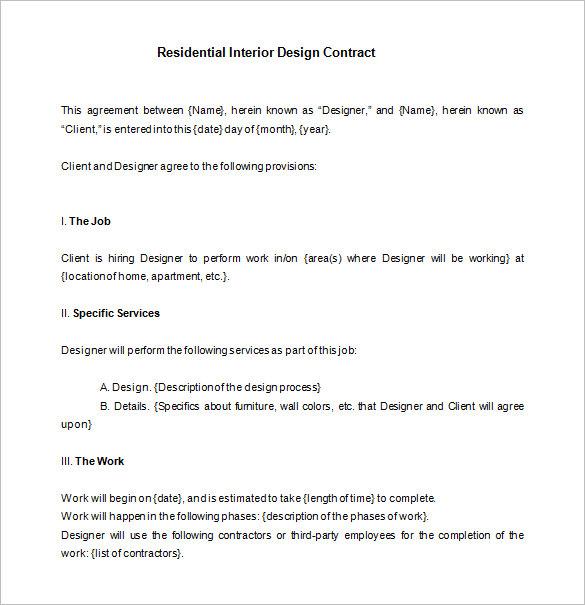 interior design contract agreement sample. Black Bedroom Furniture Sets. Home Design Ideas