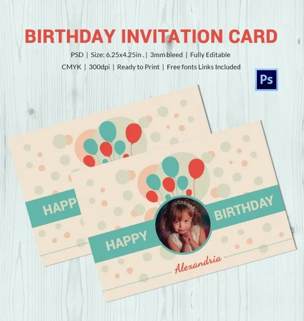 Birthday Card Template 11 Psd Illustrator Eps Format