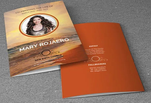 16 Obituary Card Templates Free Printable Word Excel PDF PSD Format Download Free