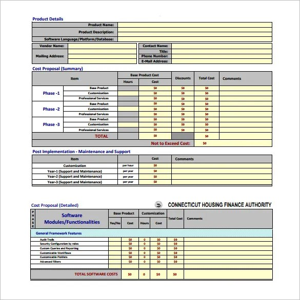 Cost Proposal Template 18 Free Word PDF Format Download Free Amp Premium Templates
