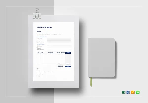 Education Invoice Templates   10  Free Word  Excel  PDF Format     education invoice template  Download