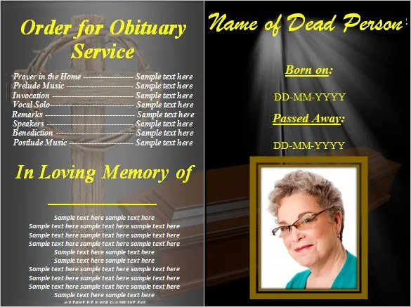 Funeral Obituary Template 25 Free Word Excel PDF PSD Format Download Free Amp Premium