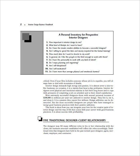 interior design business plan sample pdf