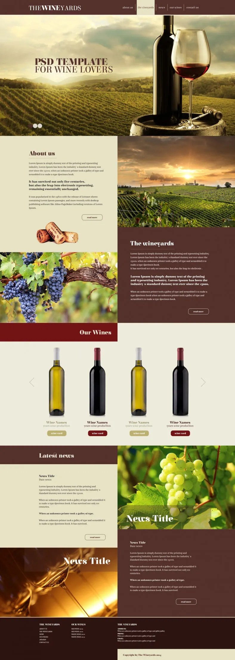 5 Wine Winery Website Templates Amp Themes Free Amp Premium Templates