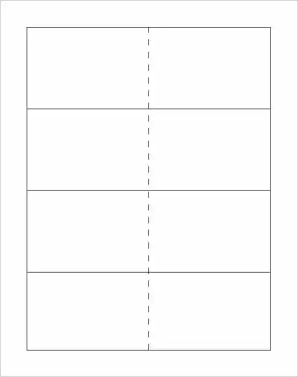 Free Printable Card Templates | Infocard.Co