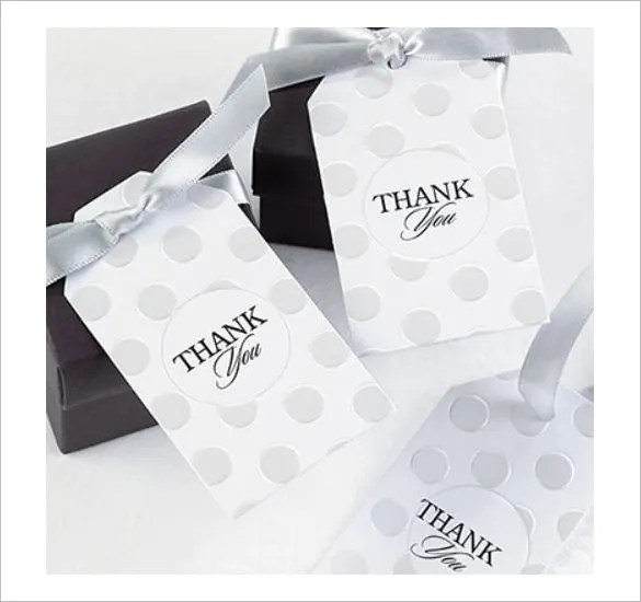 Pearl Dotted Wedding Bridal Shower Party Thank You Card
