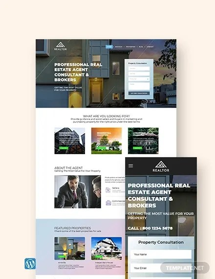 Charlotte is psd template that is crafted for real estate #agency & other related #niche #website. 29 Free Real Estate Website Themes Templates Free Premium Templates