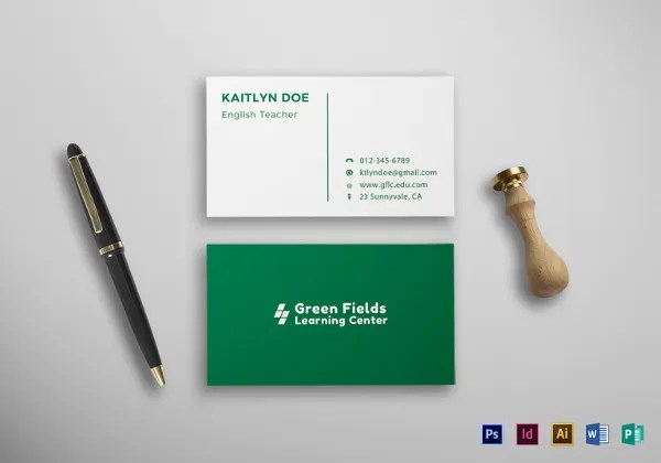 images for student business card template