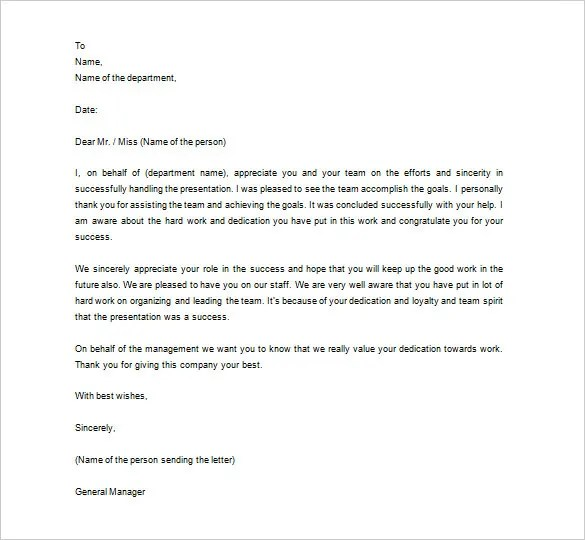 thank you letter to employer Letter – Thank You Letter to Boss