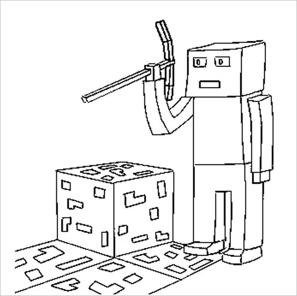 minecraft coloring pages to print # 58