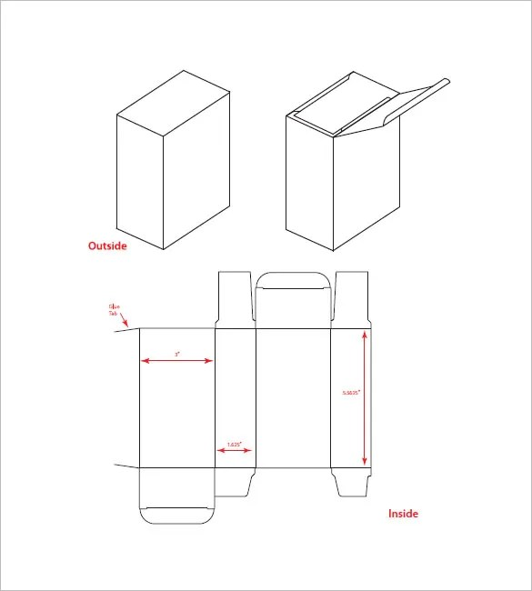 Set of white box tall shape product packaging in side view and front view mockup template. 38 Box Templates Pdf Psd Eps Free Premium Templates