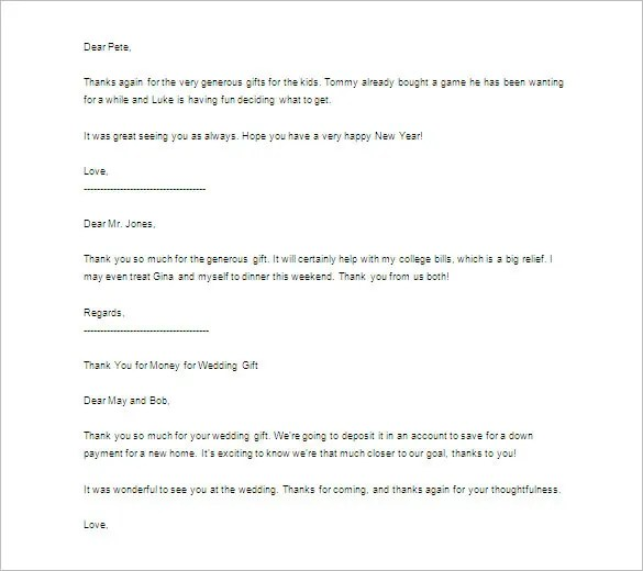 Thank You Letter 58 Free Word Excel PDF PSD Format
