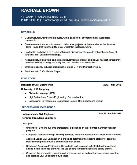 49 Best Resume Formats Pdf Doc: Civil Engineer Resumes