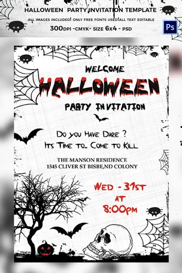 See more ideas about printable halloween party invitations, free printable halloween party invitations, halloween party invitations. 35 Halloween Invitation Free Psd Vector Eps Ai Format Download Free Premium Templates