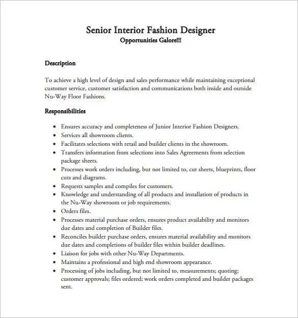 duties of a fashion designer Technical designer qualifications 57  also perform the job duties that a technical designer would  have any background in technical designer, or perhaps in fashion.