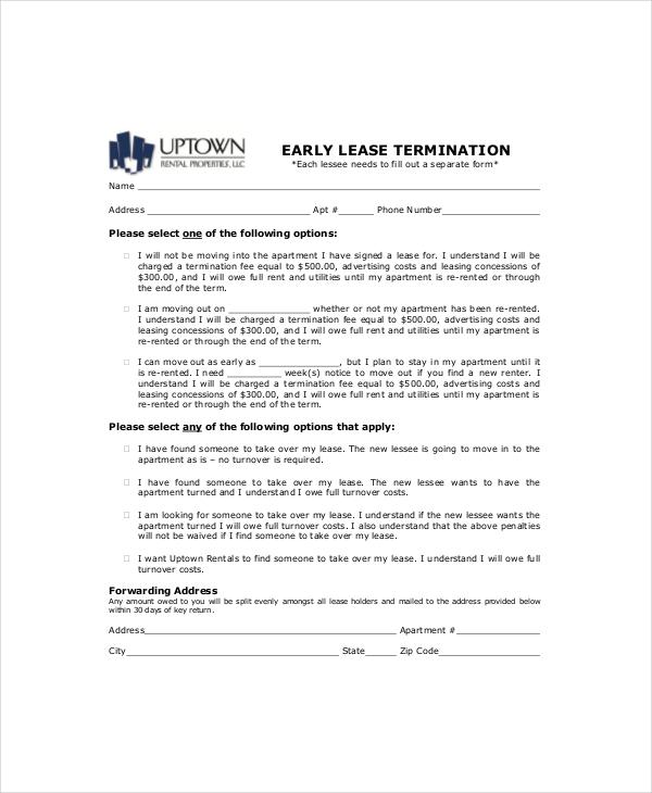 8 Lease Termination Templates Free Word PDF Format Free Amp Premium Templates