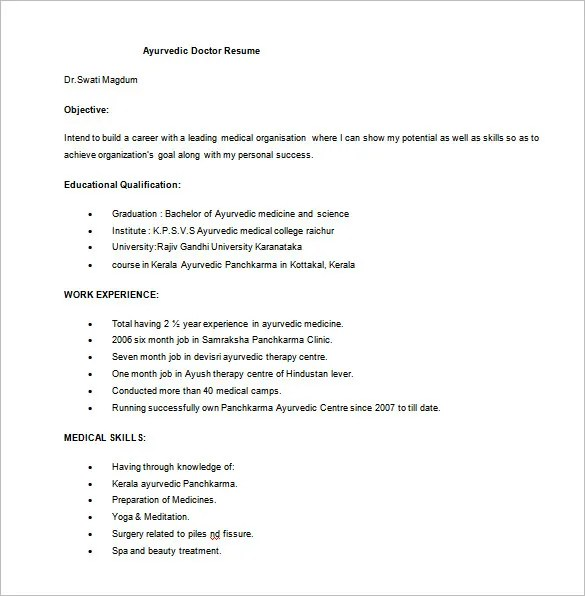 13 Clinical Experience On Resume: Resume For Doctors