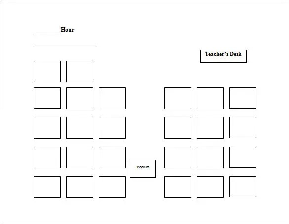 Classroom Seating Chart Template - FREE DOWNLOAD - 20 ...