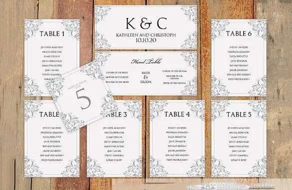 table arrangement template