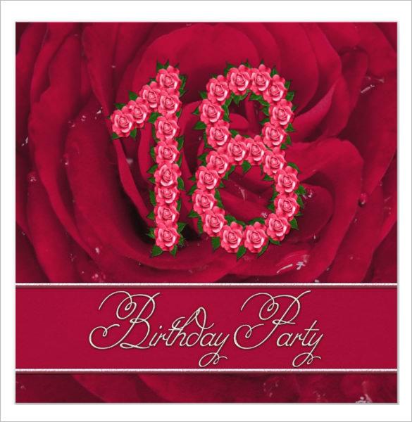 18th Birthday Invitation Card Maker Free   Infocard.co