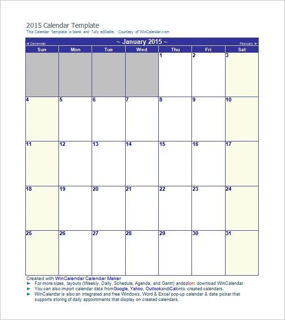 decorative monthly calendar templates