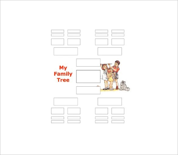 Five Generation Family Tree Template 11 Free Word Excel PDF Format Download Free