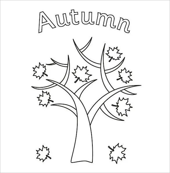 fall coloring pages printable free # 69