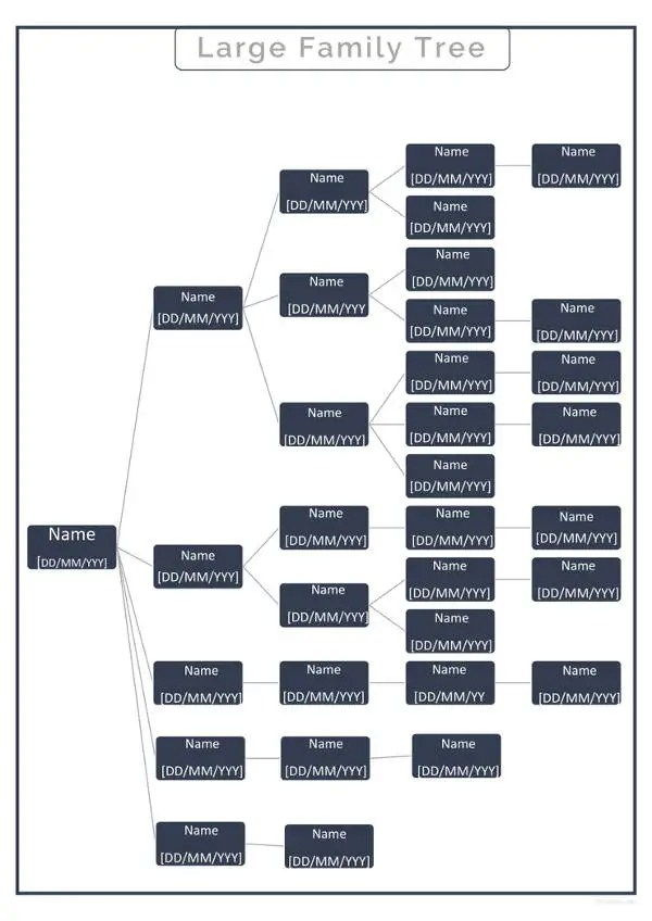 Simple Family Tree Template 27 Free Word Excel PDF Format Download Free Premium Templates