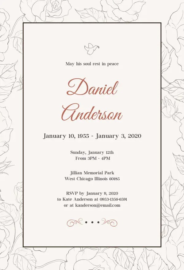 Marriage Card Sample