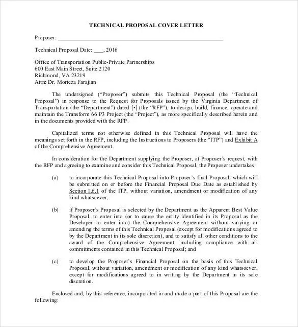 how to write a proposal letter free download