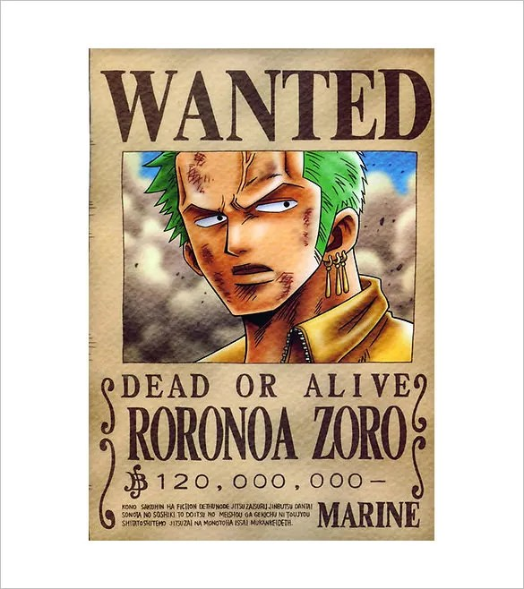 One Piece Wanted Poster Template - FREE DOWNLOAD