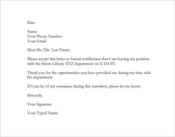 resignation letter formal juve cenitdelacabrera co