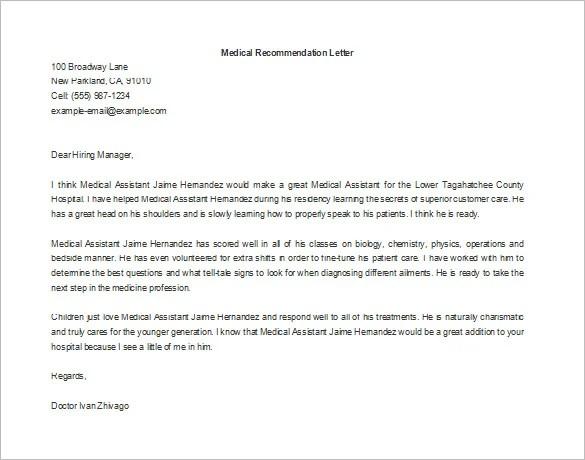 Re mendation Letter For Medical Graduate Cover Letter Sample