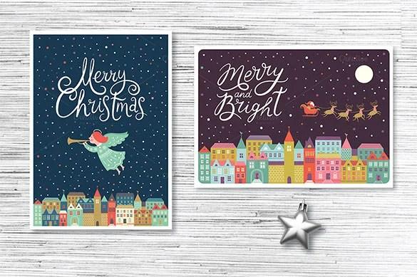 150 Christmas Card Templates Free PSD EPS Vector AI