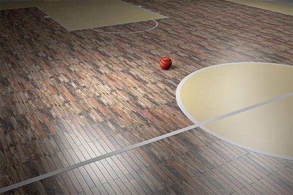Basketball Court Background Wallpaper