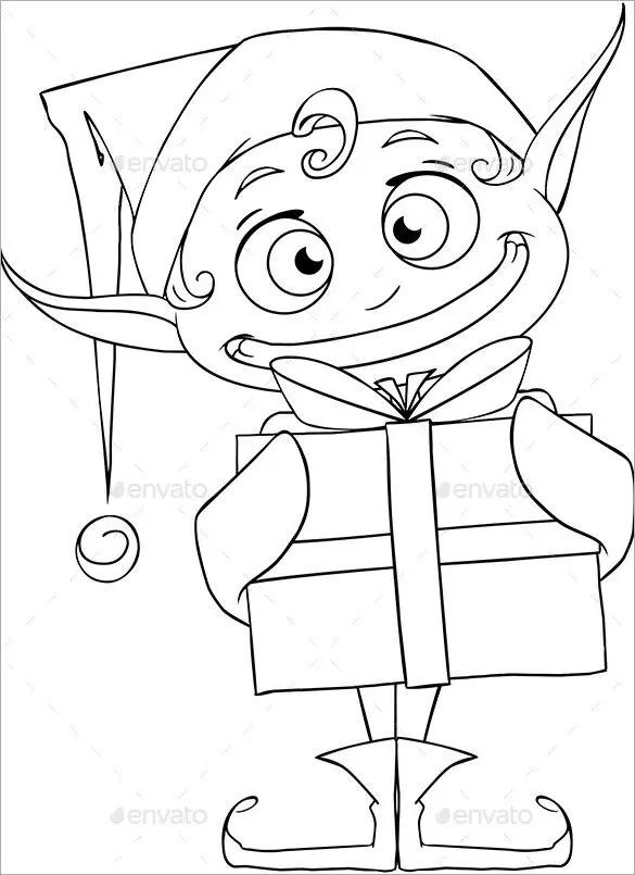 30 Christmas Colouring Pages Free JPEG PNG EPS Format
