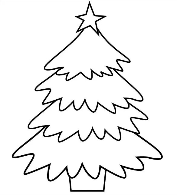 christmas trees coloring pages # 69