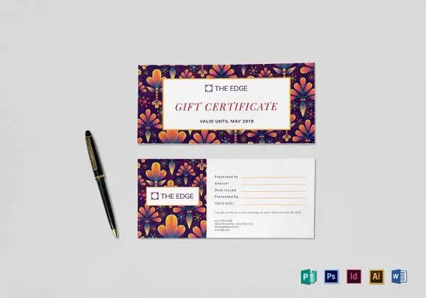 20 Restaurant Gift Certificate Templates Free Sample