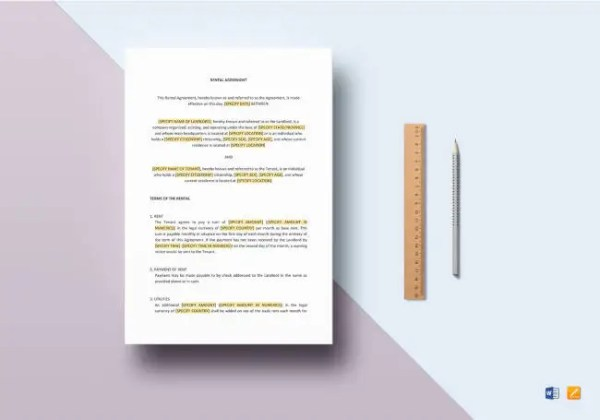 Free Rental Agreement Template   20  Free Word  PDF Documents     Rental Agreement Template