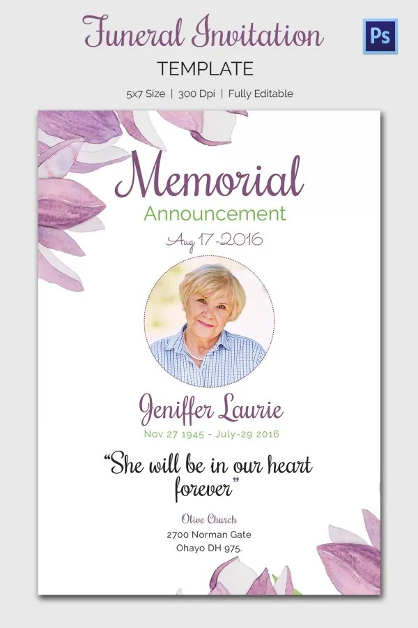 Funeral Announcement Sample. Funeral Notice Example 3 The Funeral