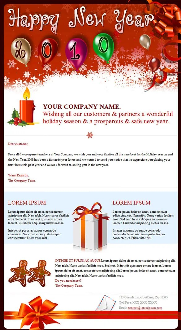 New Year Mailer Template – Merry Christmas And Happy New Year 2018