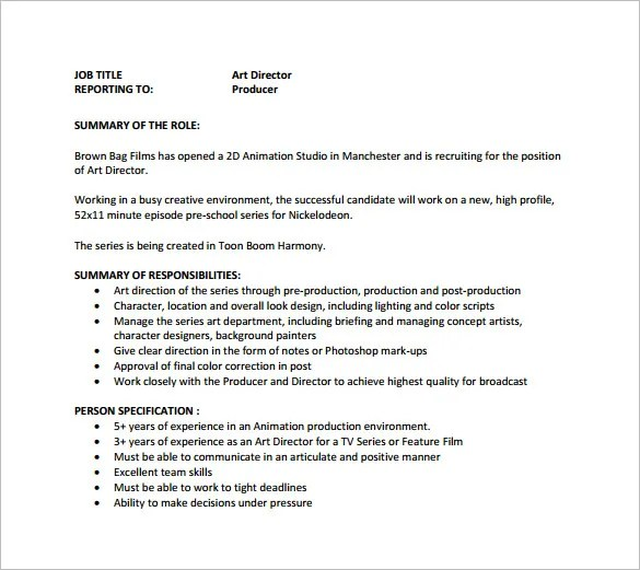 Art Director Resume Cover Letter 2 Sims Creative