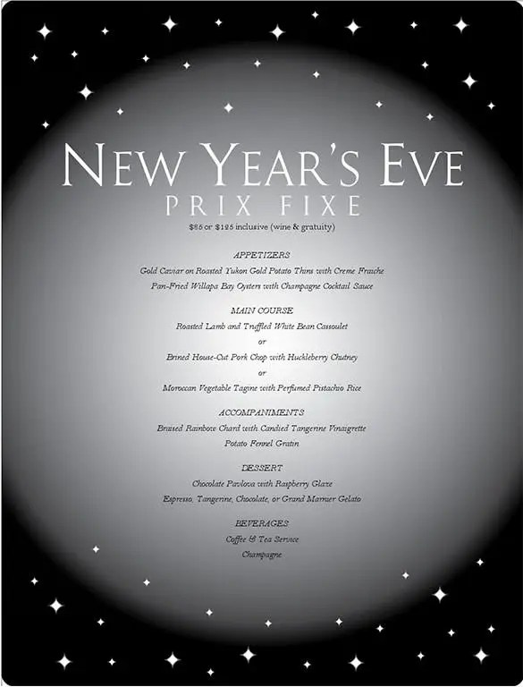 menu new year backgrounds
