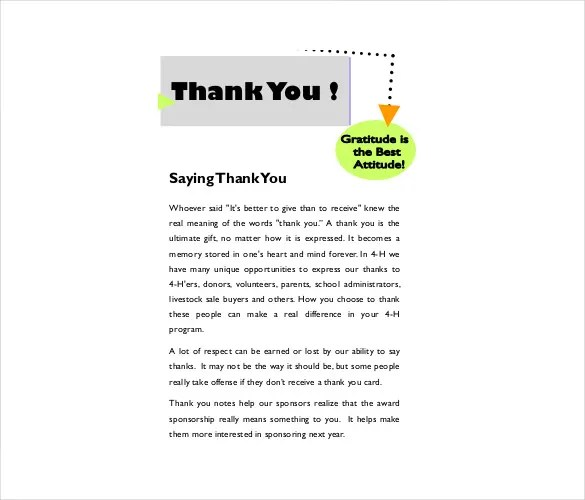 Christmas Thank You Note 8 Free Word Excel PDF Format