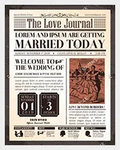 Wedding Invitation Old Newspaper Template