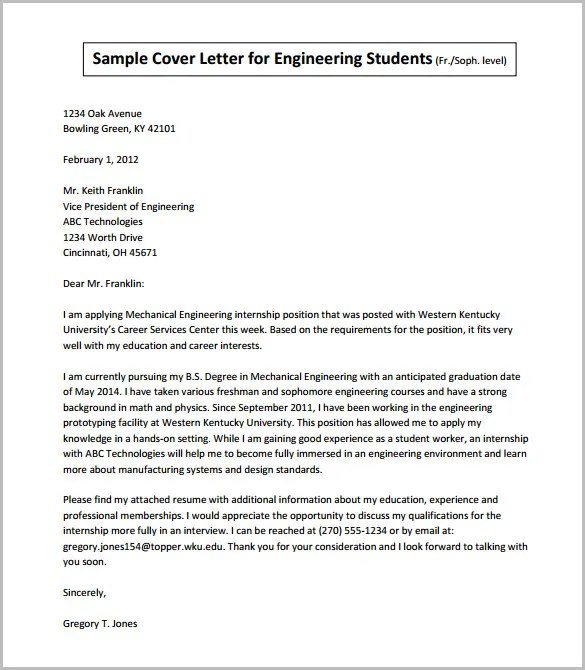 Sample Cover Letter For Teaching Job In Engineering College ...