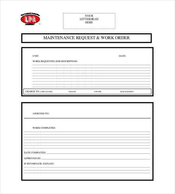 Apartment Service: Apartment Maintenance Request Form Template
